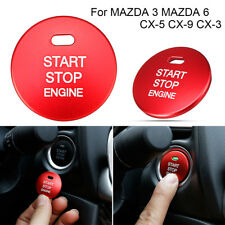 For Mazda 3 6 CX-3 CX-5 CX-9 red Engine Start Stop Button Replacement Cover Trim