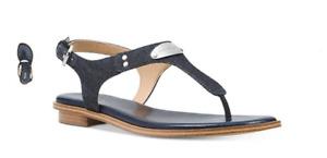 Michael Kors MK Plate Dark Denim Navy Sandal Women's sizes 5-11/NEW!!!