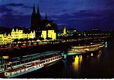 Köln am Rhein, Dampferanlegestelle und Dom ,Ansichtskarte
