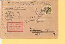 DR / MÖRS 7.7.27 auf Amtsger.-Dienst-Retour-Zustell-Urkunden-Brief m. D 110