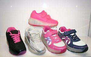 Boy Girls Kids Wheel Skate Trainer Shoes LED Roller Flashing Sneaker Light Size