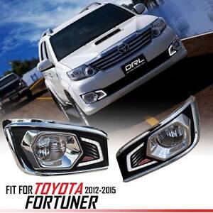 LED DAYTIME RUNNING LIGHT LAMP ABS FOR TOYOTA FORTUNER SW4 2012-2015
