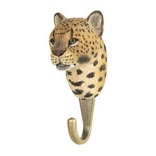 Wildlife Garden  Hook  Hand Carved  Leopard - new for 2020