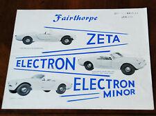 Fairthorpe Zeta, Electron & Electron Minor brochure Prospekt, 1961