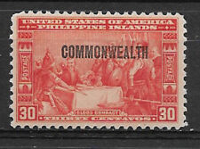 PHILIPPINES , USA , 1936/37 , COMMONWEALTH , 30c STAMP O.P.  PERF, VLH