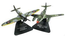 Lote 2 aviones MESSERSCHMITT ME262 Y HAWKER TEMPEST V  1/72 PLANE ATLAS DIECAST