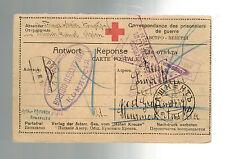 1916 Samarkand Russia WW 1 prisoner of war POW Camp Postcard Cover to Austria