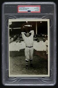 C. 1950s Christy Mathewson NY Giants PSA TYPE II Original Baseball Photograph