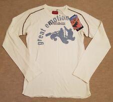 "NAPAPIJRI COTTON LONG SLEEVED T-SHIRT. Size M (38""C). WHITE. RRP £55."