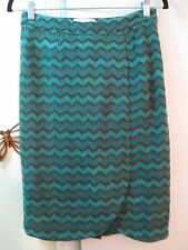 Sabine -Multi-color Pattern Knit Pencil Skirt - Size M -  Nylon/Acrylic -  Lined