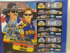 "Richard Petty & John Andretti Sam Bass Lithograph 23.5x18"" Used Great Cond"
