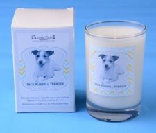 Aroma Paws JACK RUSSELL TERRIER Candle Glass Vanilla Home Office Dog Pet Lover