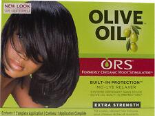Raíces orgánico aceite de oliva relajador de cabello sin lejía-Extra Fuerza