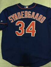 NY METS NOAH SYNDERGAARD AUTHENTIC JERSEY BLUE THOR MAJESTIC SIZE 2XL + SGA TEE