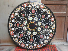 4' MARBLE DINING COFFEE SIDE CORNER CENTER ROUND TABLE TOP MOSAIC INLAY WORKS