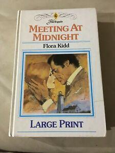MEETING AT MIDNIGHT FLORA KIDD MILLS & BOON 1984 LARGE PRINT HARDCOVER