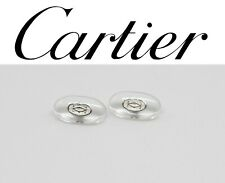 Replacement Screw-in Nose Pads for Cartier Eyeglasses Sunglasses Silver w Screws