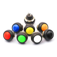 Voiture Interrupteur Bouton Poussoir Contacteur Momentané On-Off SPST 7 couleurs