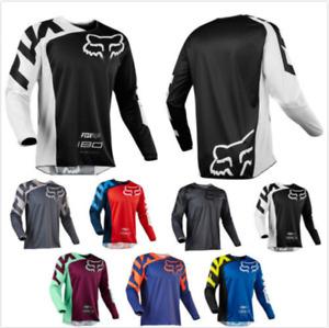 Men's Fox Cycling Jersey Motocross/MX/ATV/BMX/MTB Dirt Road Bike Racing Shirt