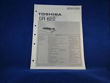 Toshiba SR-B22 Stereo Turntable Service Manual