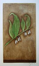 """JACQUES J. J. RIGAL Signed 1967 Original Color Etching - """"Le Sceau-de-Salomon"""""""