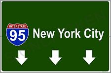 NEW YORK CITY interstate 95, SIGN / MINI REPLICA, big apple, long island