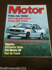 MOTOR MAGAZINE - FELIX WANKEL PROFILE - MAY 9 1981
