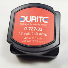 0-727-33 12V 140A 140 AMP DURITE SPLIT CHARGE RELAY VOLTAGE SENSITIVE - CAMPERS