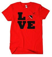 TRINIDAD AND TOBAGO COUNTRY LOVE HEART Red Cotton Unisex Adult T-Shirt Tee