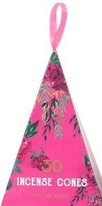 30 Luxury Oriental Flight Incense Cones - Peony Rose Fragrance