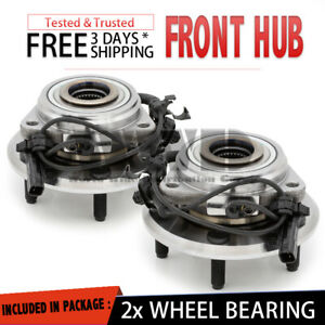 2x 513272 Front Wheel Hub Bearing Stud ABS Assembly For 2007-2014 Jeep Wrangler