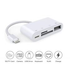 4 in 1 Lightning to TF SD Card Reader Camera USB OTG Adapter for iPhone iPad