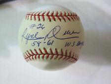 Ryne Duren Autograph Signed Baseball New York Yankees 58-61 WS Champs