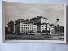 Ansichtskarte Berlin Staatsoper Unter den Linden 30/40er?? Bus Werbung Dunlop