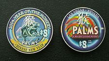 palms las vegas chinese new year of the monkey $8 casino chip unc le 1008