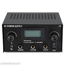 Professional Tattoo Power Supply Digital LCD Dual Capacity Machine THREE PIN US