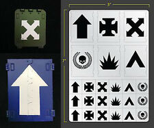VEHICLE SQUAD SELF ADHESIVE AIRBRUSH STENCIL FOR WARGAMING FALLOUT HOBBIES