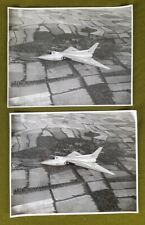 E459 Two Original Black & White Photographs Of An Avro 707