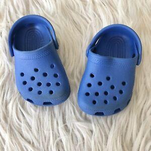 Crocs Baby Rubber Sandals 2-3 Royal Blue