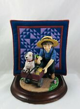 1991 The Amish Heritage Collection Quilt Jacob and Toby First Issue Figurine