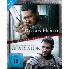 ROBIN HOOD DIR.CUT & GLADIATOR - 2 BLU-RAY NEUWARE RUSSELL CROWE,CATE BLANCHETT