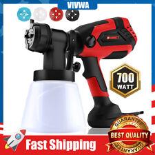 700 Watt High Power Home Electric Spray Gun Paint Sprayer 4 Nozzle Lightweight