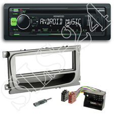 KENWOOD USB CD Autoradio Set + FORD FOCUS ab07 MASCHERINA + Quadlock Adattatore ISO