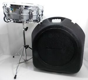 Ludwig Acrolite Snare Drum 5 x 14 UFO Case and Original Stand VTG 1980s LE2465