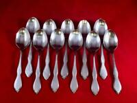 11 Soup Spoon Oneida Rogers Twilight Stainless Flatware Silverware