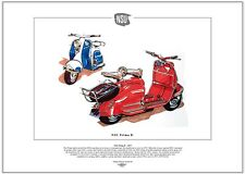 NSU PRIMA D SCOOTER FINE ART PRINT - 1950's classic 150cc with electric starting