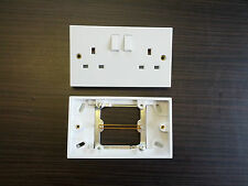 Single to Double Plug Socket Converter 1 Gang / 2 Way White