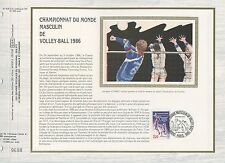 FEUILLET CEF / DOCUMENT PHILATELIQUE / SPORT / VOLLEY BALL 1986 PARIS