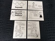 Série limitée  CPA boycott jeux olympiques Moscou 1980 filipandre