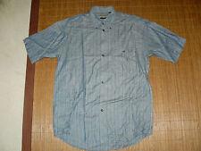 HAUPT Sommer Leinen Hemd klassisch Herren M Kurzarm bleu grau Business TOP #11